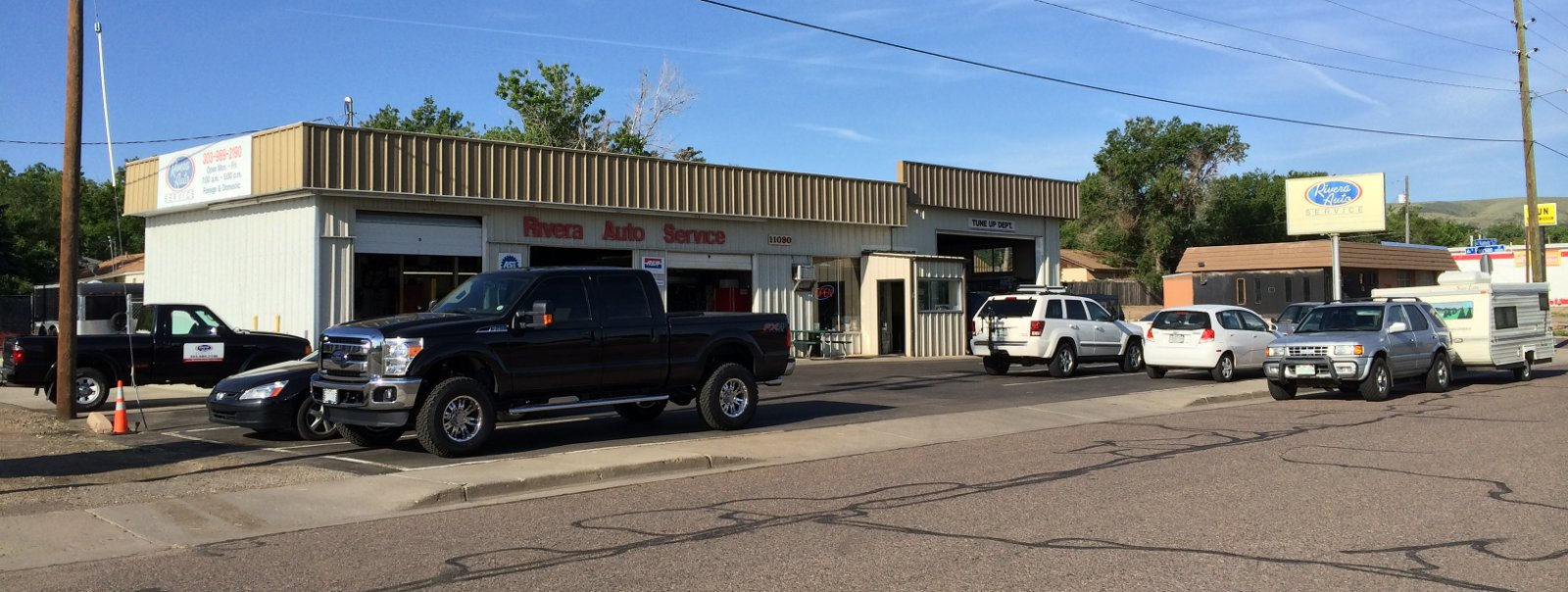 Rivera Auto Service located at 11090 West Alameda Ave. Lakewood, CO 80226 between Kipling and Union